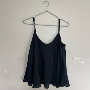 Topshop Black Swing Double Lined Cami Tank Top Size 6